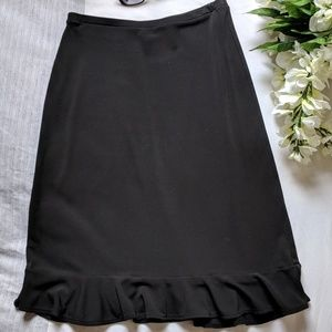Banana Republic black ruffle skirt